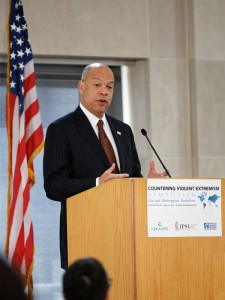 U.S. Secretary of Homeland Security Jeh Jonson emphasized the importance of partnering with American Muslim communities in the ongoing effort to counter violent extremism.